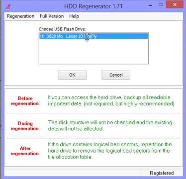 Software repair of USB Flash Drive with SK6211 utility