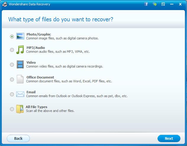 Step1 Выберите восстановить удаленные сообщения. Проверьте «Email» здесь  как тип файла ... d39bfd2db44
