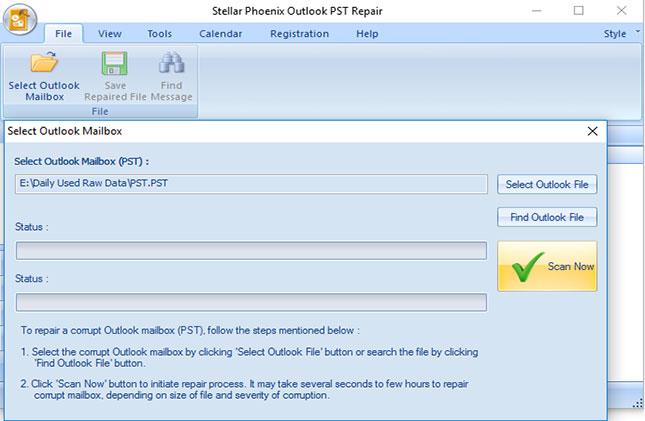 251a0563124b Для восстановления поврежденных файлов PST, вам нужно запустить программу и  нажмите кнопку «Выбрать почтовый ящик Outlook» и поиск на жестком диске, ...